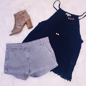 Tops - NWT Navy Lace Trimmed Tank